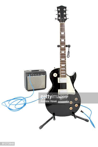 electric guitar - amplifier stock pictures, royalty-free photos & images