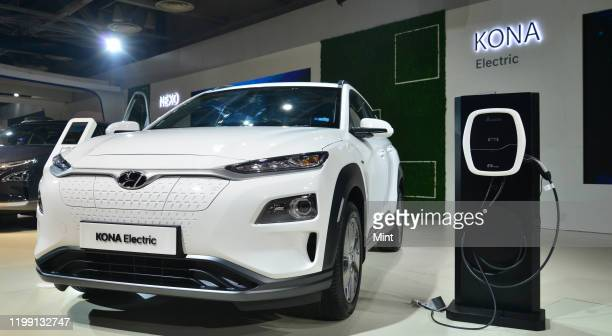 Electric Hyundai at Auto Expo 2020 on February 5 in Greater Noida India
