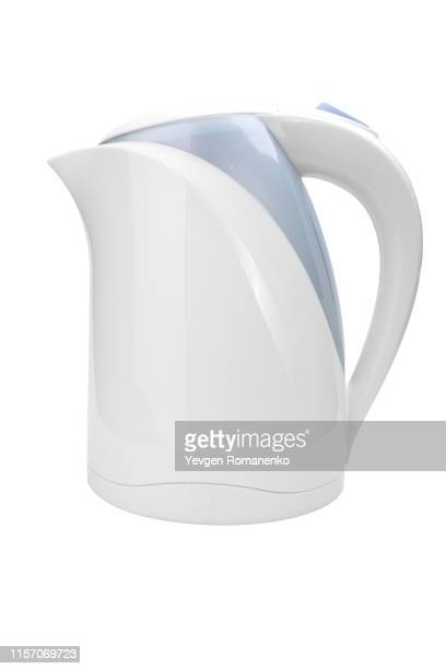 electric kettle isolated on white background - やかん ストックフォトと画像