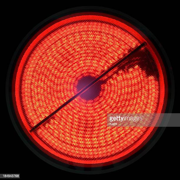 electric hob - infrared lamp stock photos and pictures