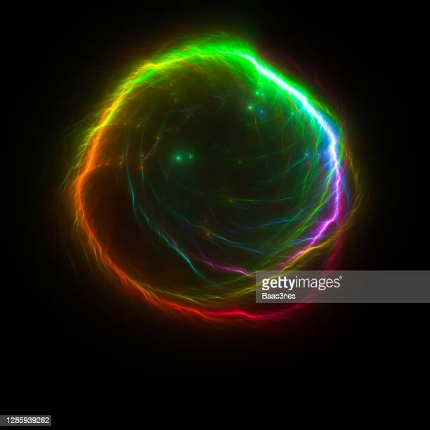 electric light ball - abstract digital art - igniting stock pictures, royalty-free photos & images
