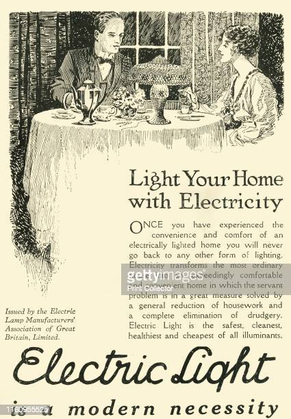 'Electric Light is a modern necessity' 1920 The Roaring Twenties were marked by significant development in the production of domestic electric...