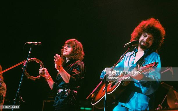 Electric Light Orchestra ELO perform on stage February 1977 London Bev Bevan Jeff Lynne