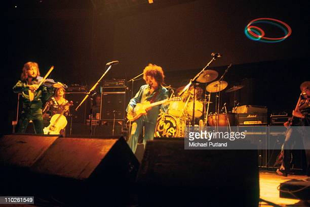 Electric Light Orchestra ELO perform on stage February 1977 London Mik Kaminski Jeff Lynne
