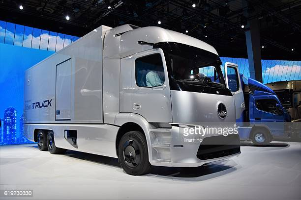 Electric Mercedes-Benz Urban eTruck on the motor show