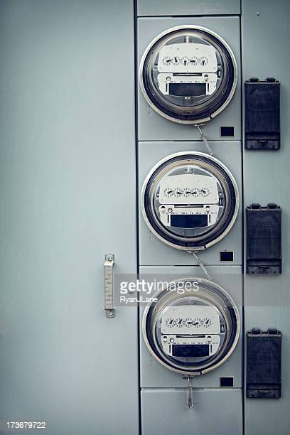 Electric Meters with Copy Space