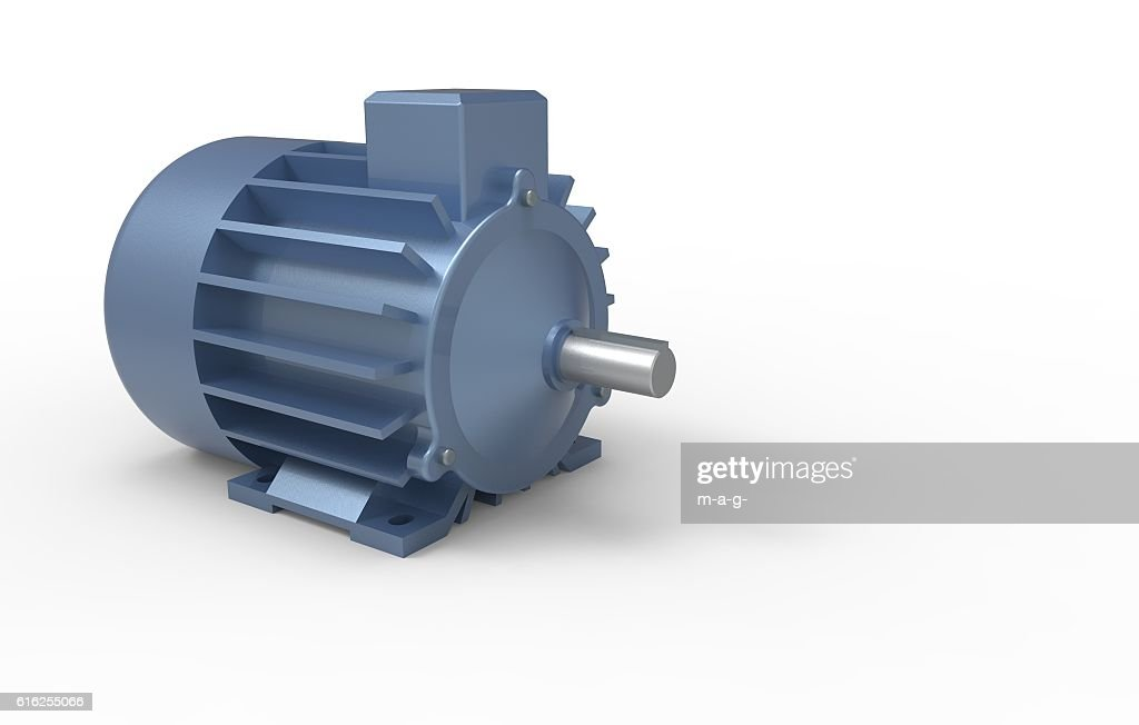 electric motor on a white background : Stock Photo