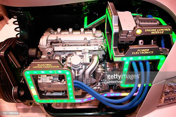 electric motor - hybrid car stock photos and pictures