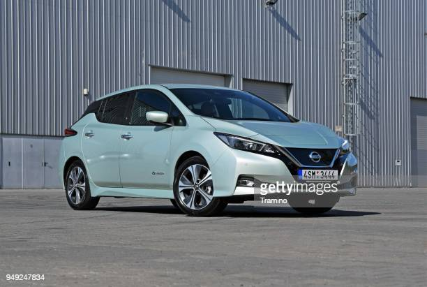 Electric Nissan Leaf on the street