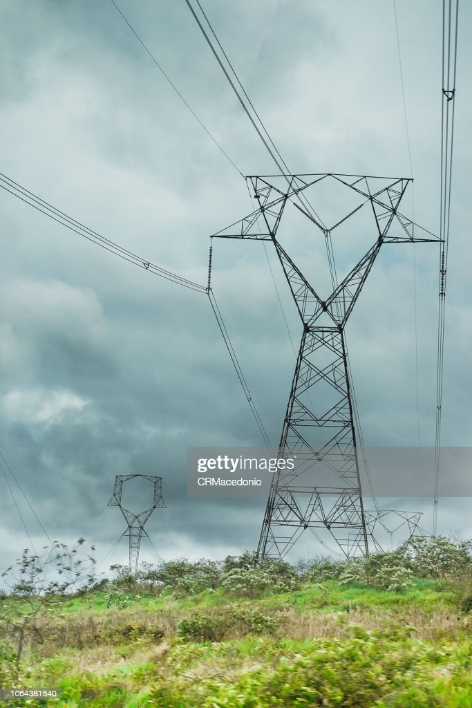 Electric power transmission. : Stock Photo
