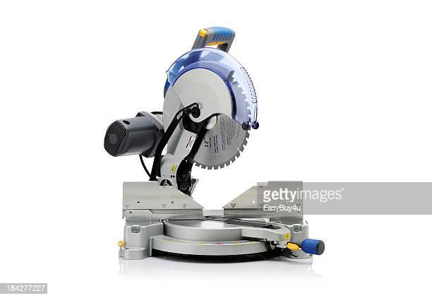 electric saw - mitre stock photos and pictures