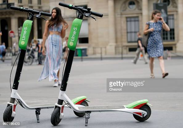 lime launches electric scooters in paris illustration photos and images getty images. Black Bedroom Furniture Sets. Home Design Ideas