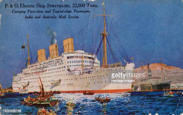 Electric Ship Strathaird 000 Tons, 1932. Ocean liner carrying passengers and mail between England, Australia and India. Artist Unknown.