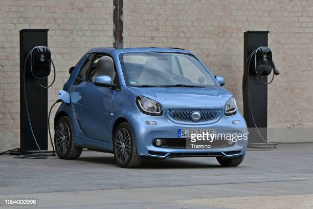 Electric Smart Fortwo on the charging station
