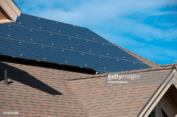 electric solar panels, home, exterior - solar mirror stock pictures, royalty-free photos & images