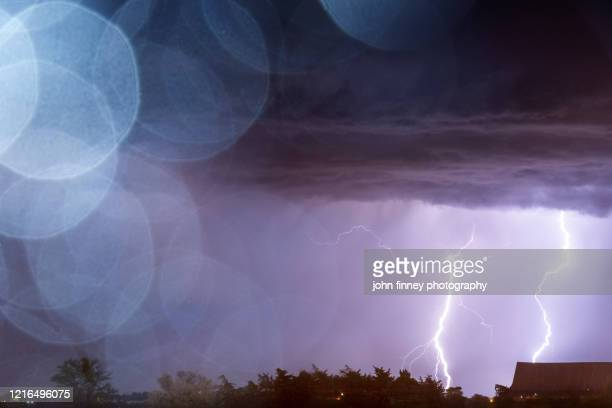 electric storm over amarillo, texas - country texas lightning stock pictures, royalty-free photos & images
