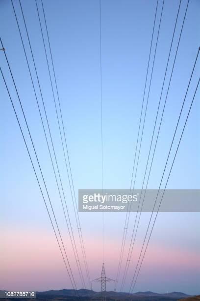 electric tower - aragon fotografías e imágenes de stock