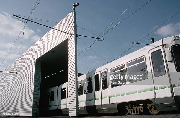 tan electric tramway - loire atlantique stock pictures, royalty-free photos & images