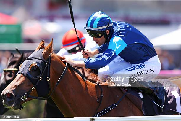 Electric Tribute ridden by Dwayne Dunn wins Café Adamo Handicap at Flemington Racecourse on December 10 2016 in Flemington Australia