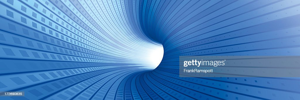 Electric Tunnel Panorama : Stock Photo