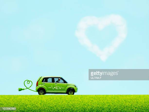 Electric vehicle and heart shaped cloud