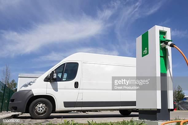 Electric vehicle charging station, Munich, Bavaria, Germany