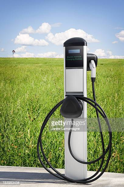 electric vehicle charging station - electric vehicle charging station stock photos and pictures