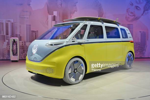Electric Volkswagen I.D Buzz on the motor show