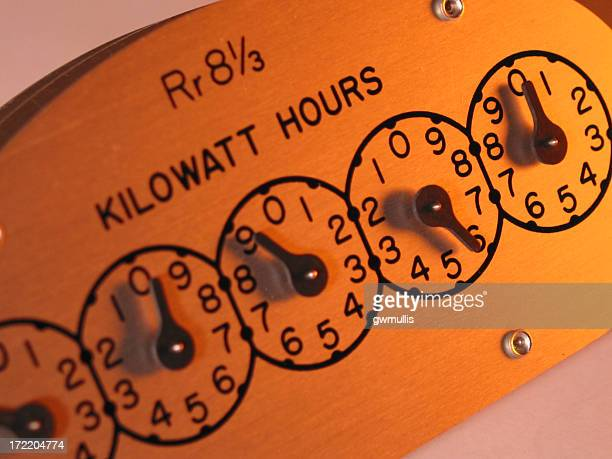 electric watt meter register