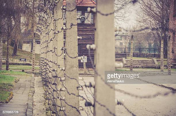 Electrical fence that surrounds the camp Auschwitz II Birkenau