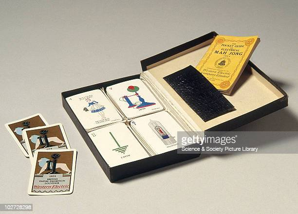 Electrical mah jong playing cards 1924 Electrical mah jong playing cards 1924 Made by Thomas de la Rue Limited for The Western Electric Company...