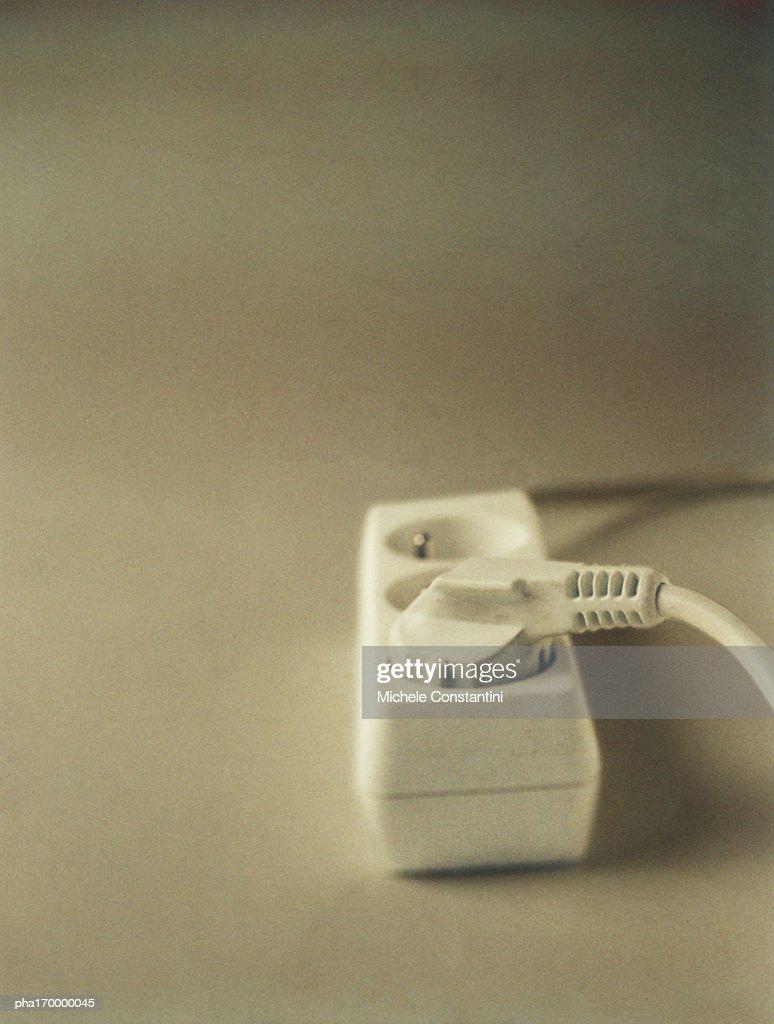 Electrical plug in adaptor : Stockfoto