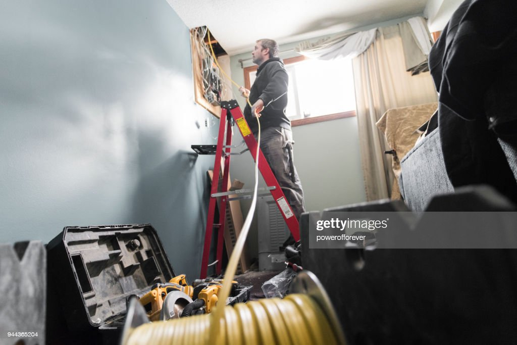 Electrical Repair - Distribution Board Replacement : Stock Photo