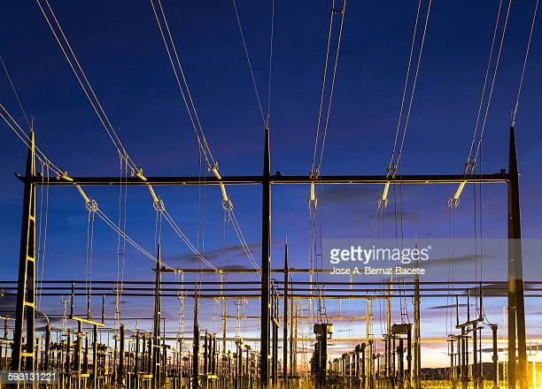 Electrical substation to the dusk