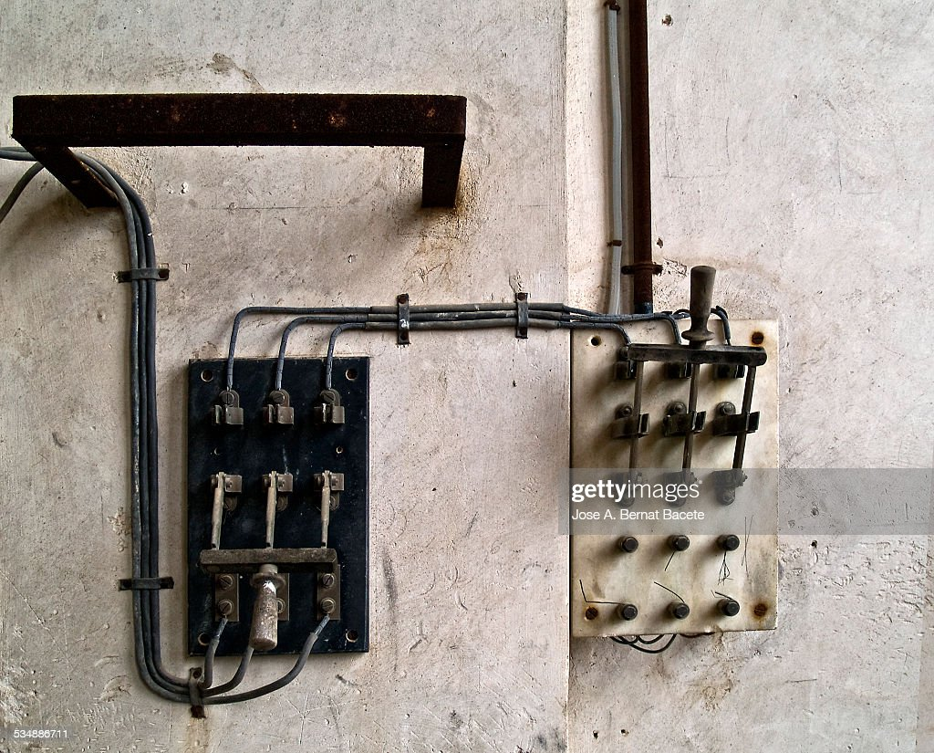 Electrical Switches Ancient Manufacturers Stock Photo | Getty Images