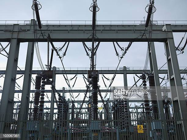 electrical switching station - monty rakusen stock pictures, royalty-free photos & images