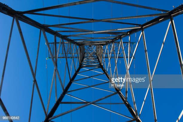 Electrical transmission tower carrying high voltage lines