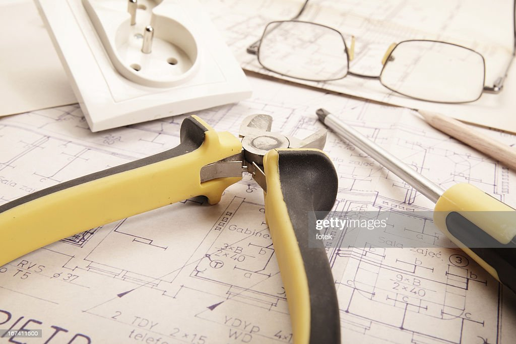 Electrical work : Stockfoto