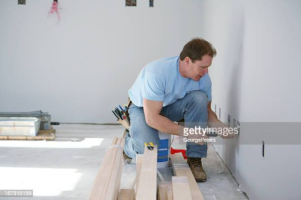 Electrician Installing Outlets