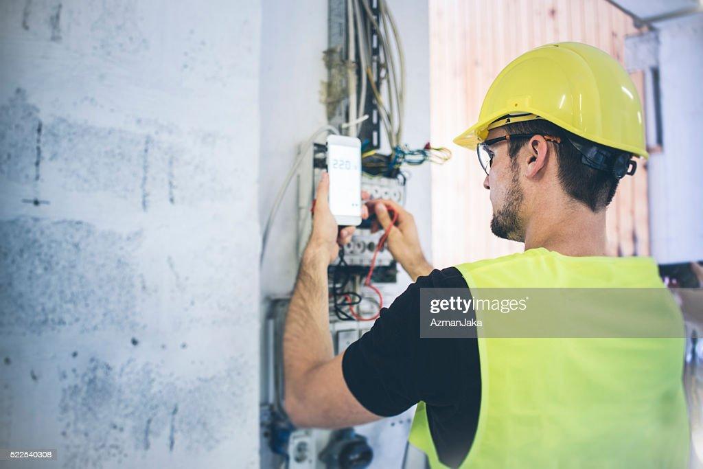 Elektriker : Stock-Foto