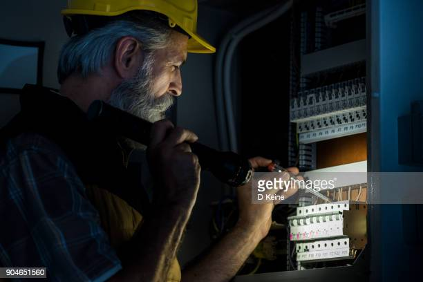 electrician - fuse stock photos and pictures