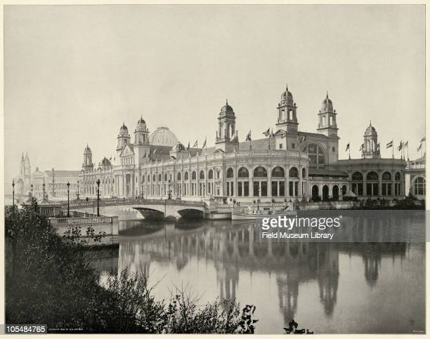 Electricity Building Looking South West Large photographic print from 'The White City World's Columbian Exposition 1893'Chicago Illinois June 1 1893