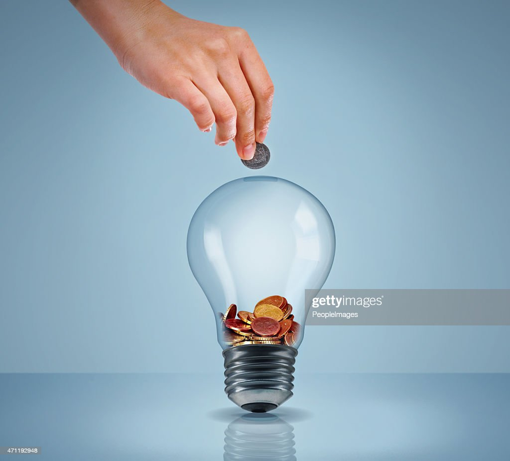 Electricity eating up your savings? : Stock Photo