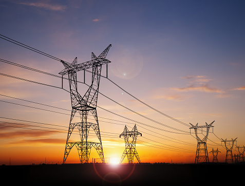 Electricity power pylons 1161679866