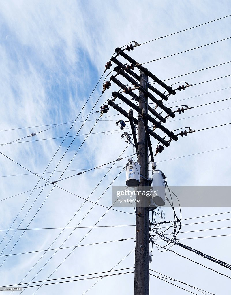 Electricity Pylon and Power Lines : Stock Photo