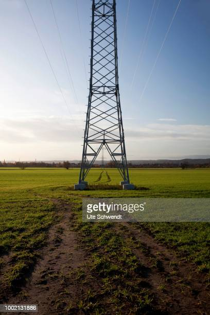Electricity pylon in Nassau, Weinboehla, Saxony, Germany