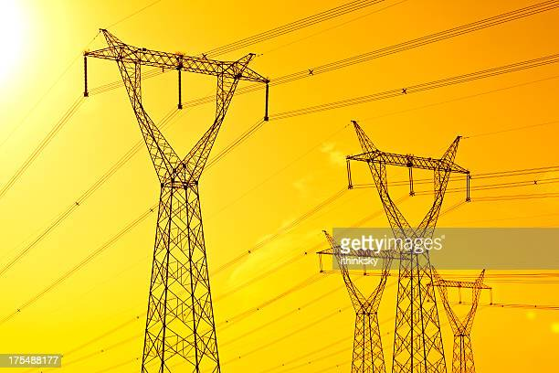 electricity pylon - tower stock pictures, royalty-free photos & images