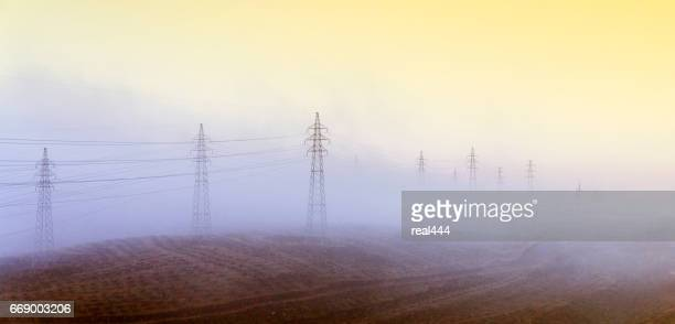 electricity pylon - power supply stock pictures, royalty-free photos & images