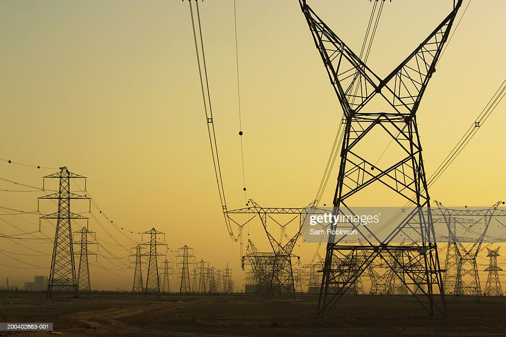 Electricity pylons : Stock Photo