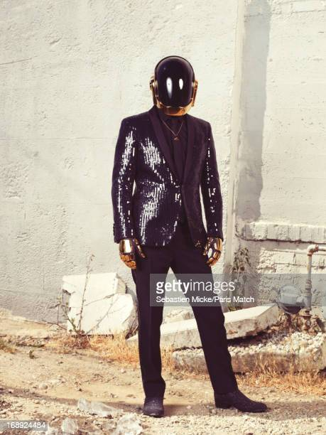 Electro dance duo Daft Punk are photographed for Paris Match on April 17 2013 in Los Angeles California
